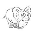 cartoon image of cute elephant vector image vector image