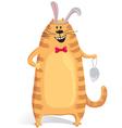 Cat wore rabbit ears vector image vector image