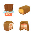 chocolate icon set cartoon style vector image vector image
