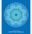 Christmas mandala with decorative holidays element vector image