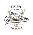 christmas typography quote design believe in vector image