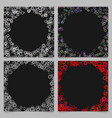 colored round border background design set with vector image vector image