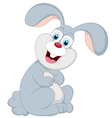 Cute bunny cartoon vector image
