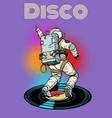 disco astronaut dances vector image vector image