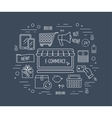 E-commerce line icon concept Line icons for vector image vector image