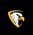 eagle logo design vector image vector image