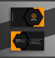 Elegant minimal black and yellow business card