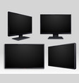 flat tv screen and computer lcd monitor isolated vector image vector image