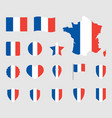 france flag icons set french flag symbol vector image vector image