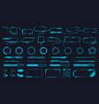 futuristic interface ui elements holographic hud vector image