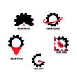 gear set logo vector image vector image
