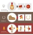 Gladiator Banner Set vector image