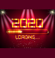 gold happy new year 2020 with loading icon golden vector image vector image