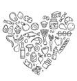 grocery supermarket goods pattern store food vector image vector image