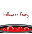 Halloween card with red potion vector image vector image