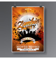 Halloween Zombie Party Flyer Design vector image vector image