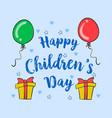 happy children day style collection vector image vector image