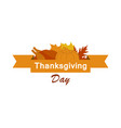happy thanksgiving day celebration banner with vector image