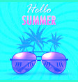 hello summer summer backgroundbanner vector image
