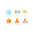 indian yoga studio logo design set vector image vector image