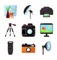 isolated object studio and photo logo set vector image vector image