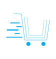 isolated shopping cart icon vector image vector image