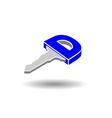 key symbol logo vector image vector image