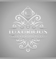 letter l logo - classic luxurious silver vector image vector image