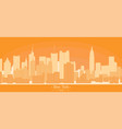linear banner new york city buildings vector image