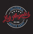 los angeles design print vector image