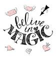magic hand drawn - cute rainbow and vector image