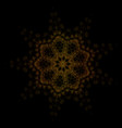mandala oriental ornament abstract linear vector image