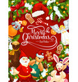 merry christmas oys and gifts vector image vector image