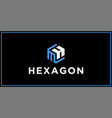 mh hexagon logo design inspiration vector image vector image