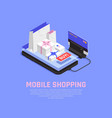 mobile shopping and ecommerce concept vector image vector image