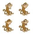 monkey moods vector image vector image