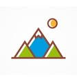 mountains icon symbol vector image vector image