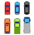 Multicolored car collection isolated on white vector image vector image