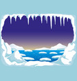 north pole with icebergs vector image