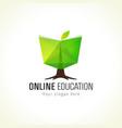 online education logo book tree vector image vector image