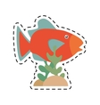 orange fish marine ecosystem life coral vector image