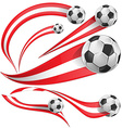 peru flag with soccer ball vector image vector image