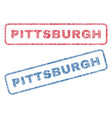 pittsburgh textile stamps vector image vector image