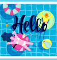 poster hello summer vector image vector image