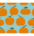 Pumpkin seamless pattern Background of Orange vector image