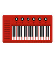 red synthesizer icon isolated vector image vector image