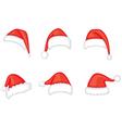 Santa cap set vector image