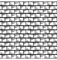 seamless hand drawn pattern with stripes and squar vector image