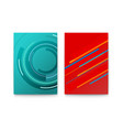 set modern posters abstract lines on colored vector image vector image