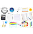 set of school supplest vector image vector image